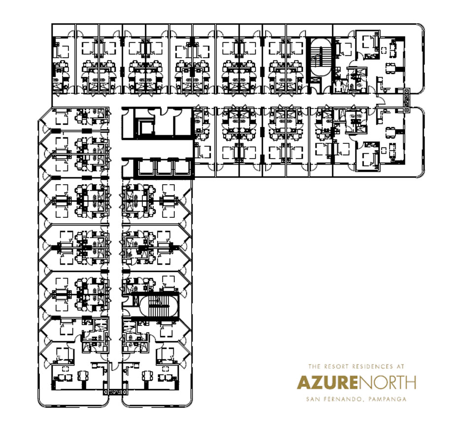 typical floor plan at azure north